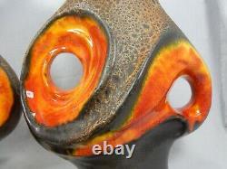 1 Paar / set of two Walter Gerhards 70´s Design Fat Lava Lampen / lamp bases