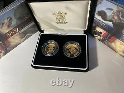 2007 Gold Proof 2 Coins Full & Half Sovereign Collections Limited Set