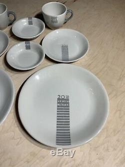 20th Century Limited Railroad Dinnerware Set For Two Rare! Plates Coffee Cup