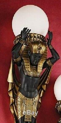 28 Egyptian Royalty Style Illuminated Wall Sculptures Lamp (Set Of Two)