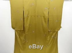 3971924 Japanese Kimono / Vintage Komon Kimono & Two-piece Juban Set / Butterfl