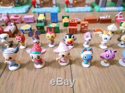 Animal Crossing Mini Figure House Set Toy Two-Story Playset Japan Furniture Lot