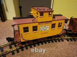 Aristocraft g gauge model railway set, diesel locomotive and two carriages