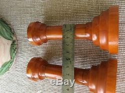 BAKELITE CATALIN MARBLE SET. Two pieces. 270g