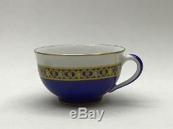 Beautiful Hermes Cocarde de Soie Tea Cup & Saucer Set Two Available