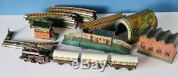 Bing Tabletop Clockwork Model Railway Set Two Rail Lnwr Scarce
