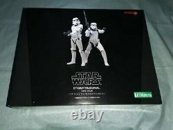 Boxed Star Wars Stormtrooper 1/10 KOTOBUKIYA ARTFX+ two set