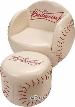 Budweiser Baseball Chair with Ottoman (Two piece furniture set with Ottoman)