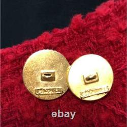 CHANEL Button Button vintage large and small two set Size about 2cm gold #30 F/S