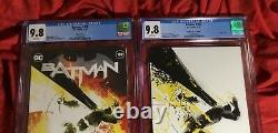 Cgc 9.8batman #1002020 Nycc Jock MCM Virgin+color Exclusive Variant Settwo