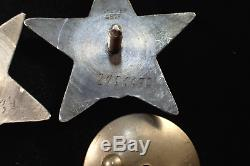 Combat WWII Combat set on one person two orders Red Star numbers in a row