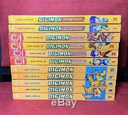 Digimon, Vols. 1 2 3 4 5, Tamers 1-4, Zero Two 1-2 (complete set) English Manga
