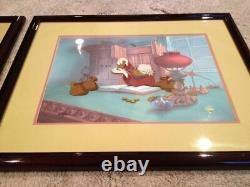 Disney Art CEL's MATCHED SET Mickey's Christmas Carol Scrooge TWO