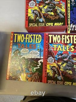 EC Library Two -Fisted Tales Russ Cochran Pub. 4 Volume Set With Slipcase 1980