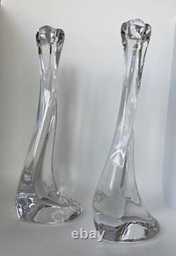 Elsa Peretti Crystal Candlestick for Tiffanys set of two