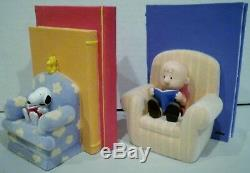 Hallmark Peanuts Gallery By The Book Set of Two Bookend Figurines Limited Editio