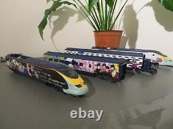 Hornby ex set eurostar yellow submarine loco dummy car and two coaches only