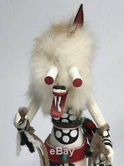 Kachina dolls Set Of Two WOLFMAN BY J. B. & WHITE COYOTE BY R-JOE safe ship