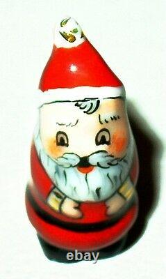 Limoges Box Christmas Nesting Santa Claus Set Two Boxes Three Pieces