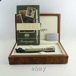 Montegrappa Two Roses York and Lancaster. 925 Sterling Silver FP Set (M) RARE