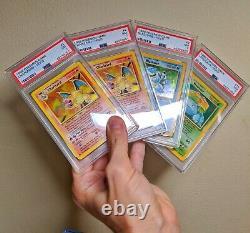 PSA 7 Base Set Trio TWO CHARIZARDS! Blastoise Venusaur holo Pokemon cards