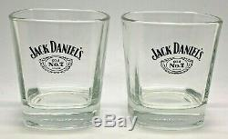 Pair Of Jack Daniels Rocks Glasses Gift Set Pub Bar Whiskey 2 Two Tumbler
