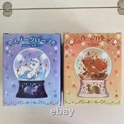 Pokemon Center Original Snow Globe Dome Alola Vulpix Rokon Set of two