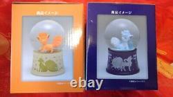 Pokemon Center Original Snow Globe Dome Alola Vulpix Rokon Set of two New F/S