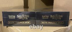 Pokémon TCG Shining Fates Elite Trainer Box Set of Two (2) IN HAND Ready To Ship