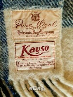 Pure Wool Hudson's Bay Company Rare Tartan Blanket Set of Two