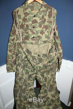 Rare Original WW2 U. S. Army Two Piece Camo Jacket/Pant Set, Named to GI