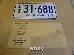 Rare Two Sets Vintage 1962 Alaska License Plates Prison Labor Antique