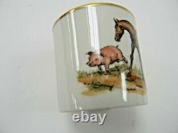 Rare Vintage Cyril Gorainoff Signed China Cups. Set of Two