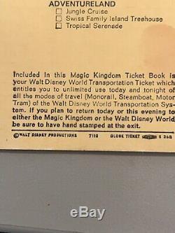 Rare Vintage Set of Two Original October 1971 & 1970s Walt Disney Ticket stubs