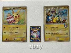 Rarity Pokemon Center Birthday Limited Pikachu Jumbo Card Captain Promo Two Sets