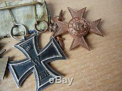 SET German WW1 Bavarian Merenti two Cross Long Service 9 year group medal award