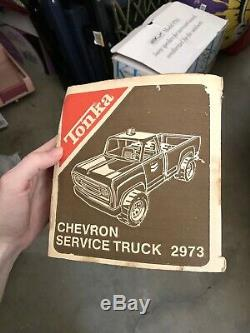 SET OF TWO RARE 1961 Collectible Chevron Tonka Truck and'60s Ford Nylint Truck