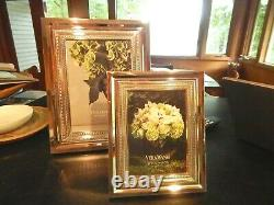 SET of TWO Vera Wang WEDGWOOD WITH LOVE FRAMES silverplate 8 x10 & 5 x 7 NEW