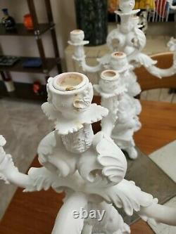 Seletti Burlesque The Wise Chimpanzee Five-Arm Candelabra, White, Set of TWO