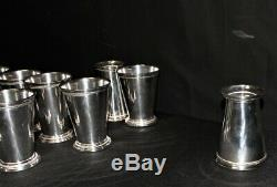 Set of 10 Twos Company McKenzie Silverplate Mint Julep Cups