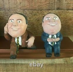 Set of TWO Rush LIMBAUGH RUSHKIN Figurines Shelf Sitters Limited Editions 1994