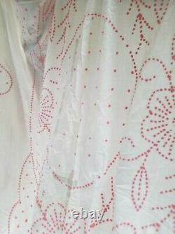 Set of TWO matching Vintage Chenille Hobnail Bedspreads Ruffles Pretty Coverlet