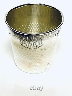 Set of Two (2) Webster Sterling Silver Only a Thimble Full Shot Glasses