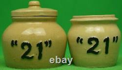 Set of Two 21 Club New York c1950s Condiment Jars