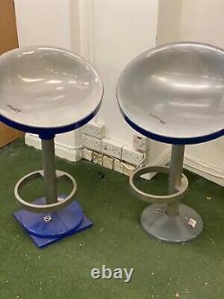 Set of Two London Underground Railway Furniture Stools Pullman