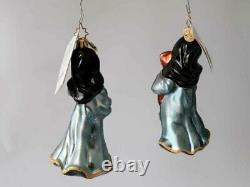 Set of Two New CHRISTOPHER RADKO Swing Sisters Nun Ornament Poland 2002