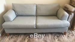 Set of two light blue DFS 3 seater sofas from the Capsule Collection