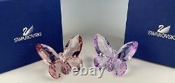 Swarovski Crystal Large Butterflies Set Of Two Used & Displayed
