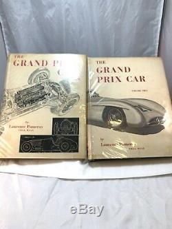 THE GRAND PRIX CAR by Pomeroy 1954 Two Volume set Hardbound Edition Books