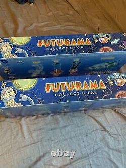 TWO (2) FUTURAMA Collect-O-Pak FIGURE Sets Tower Records Exclusive 2001 NIB